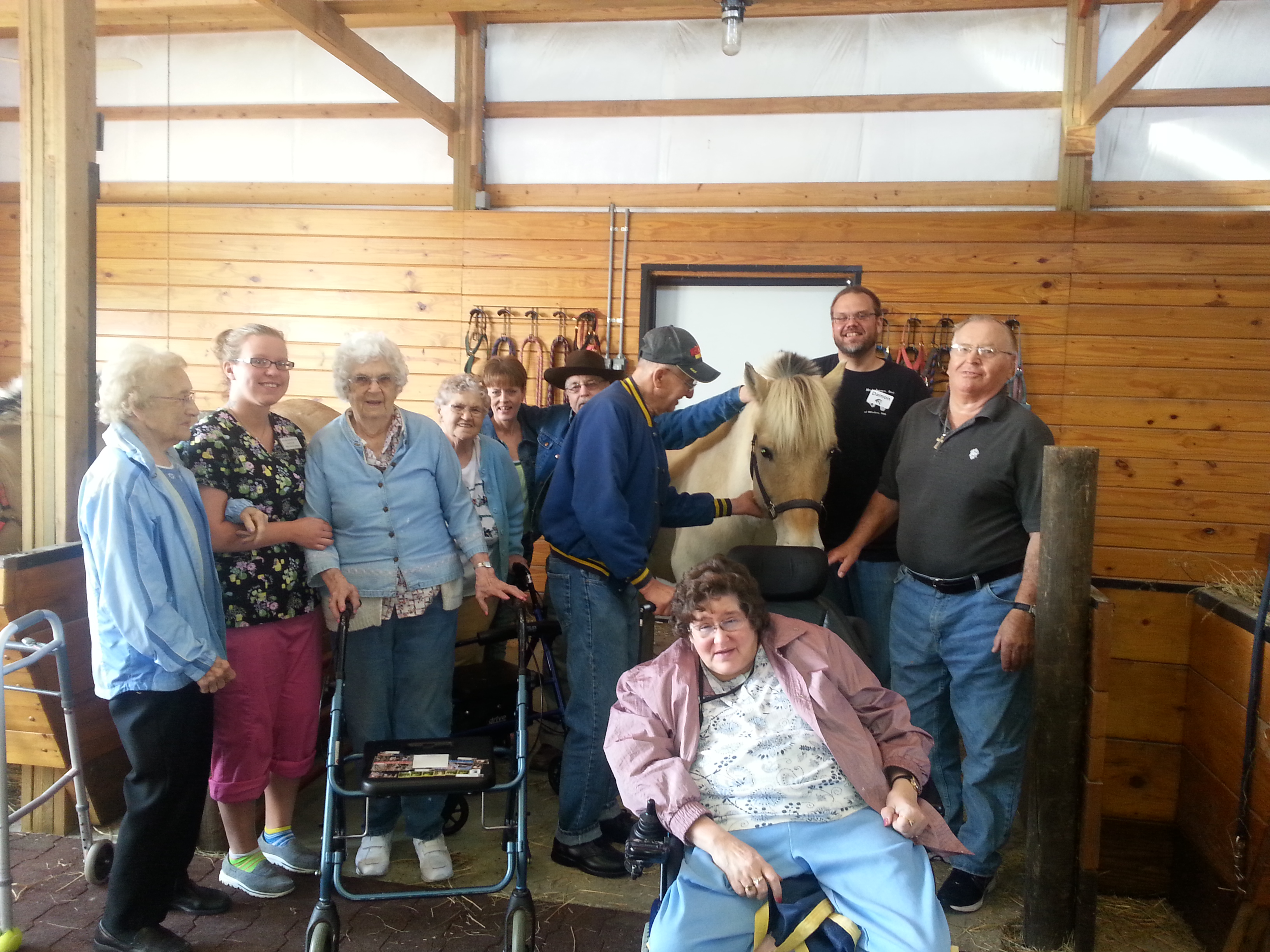 Horse outing at Lakeview Assisted Living
